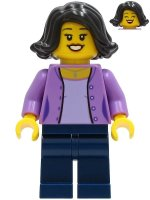 Mom - Medium Lavender Jacket, Dark Blue Legs, Black Hair