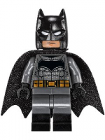 Batman - Dark Bluish Suit, Gold Belt, Black Hands, Spongy Cape, Large Bat Logo (76046)