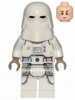Snowtrooper, Printed Legs, Dark Tan Hands, Cheek Lines, Frown (75288)