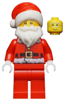 Santa, Red Legs, Fur Lined Jacket with Button, Glasses