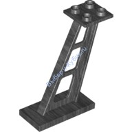 Pearl Dark Gray Support 2 x 4 x 5 Stanchion Inclined, 5mm Wide Posts