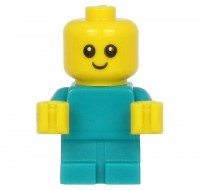 Baby - Dark Turquoise Body with Yellow Hands