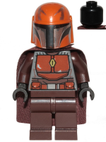 Mandalorian Tribe Warrior - Male, Dark Brown Cape, Dark Orange Helmet