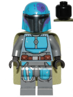 Mandalorian Tribe Warrior - Male, Olive Green Cape, Dark Azure Helmet