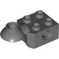 Dark Bluish Gray Technic, Brick Modified 2 x 2 with Pin Hole, Rotation Joint Ball Half (Horizontal Top)  4227395