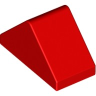 Red Slope 45 2 x 1 Double - with Bottom Stud Holder  4157124