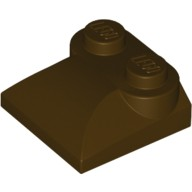 Dark Brown Brick, Modified 2 x 2 x 2/3 Two Studs, Curved Slope End  6046939