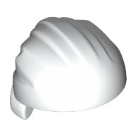 White Minifig, Headgear Hat, Rag Wrap / Bandana, Rounded Top  6097193