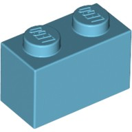 Medium Azure Brick 1 x 2  6004945 or 6092674
