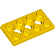 Yellow Technic, Plate 2 x 4 with 3 Holes  370924