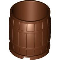 Reddish Brown Container, Barrel 4 x 4 x 3.5
