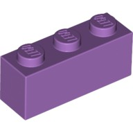 Medium Lavender Brick 1 x 3  6109896