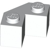 White Brick, Modified Facet 2 x 2  4560939 or 6137926