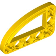 Yellow Technic, Liftarm 3 x 5 L-Shape with Quarter Ellipse Thin  4128554
