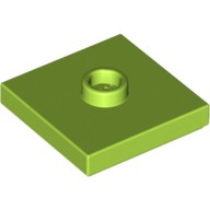 Lime Plate, Modified 2 x 2 with Groove and 1 Stud in Center (Jumper)  6056291