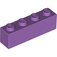 Medium Lavender Brick 1 x 4  6107188