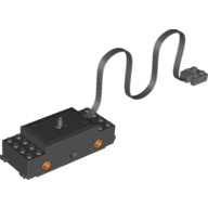 Black Electric, Train Motor 9V RC Train with Integrated PF Attachment, Orange Wheel Holders (motor only, no attached wheels)  4584375 or 6124610
