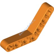 Orange Technic, Liftarm 1 x 7 Bent (4 - 4) Thick  4140836 or 4540817 or 6004156