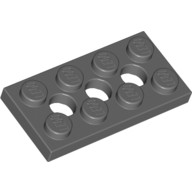 Dark Bluish Gray Technic, Plate 2 x 4 with 3 Holes  4227398