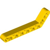 Yellow Technic, Liftarm 1 x 9 Bent (7 - 3) Thick  4194915 or 4544005