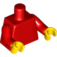 Red Torso Plain / Red Arms / Yellow Hands  4275872 or 4582740