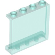 Trans-Light Blue Panel 1 x 4 x 3 with Side Supports - Hollow Studs  4594685