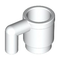 White Minifig, Utensil Cup  4215140 or 4659665