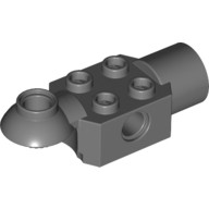 Dark Bluish Gray Technic, Brick Modified 2 x 2 with Pin Hole, Rotation Joint Ball Half (Horizontal Top), Rotation Joint Socket  4218201