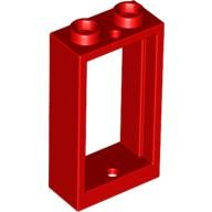 Red Window 1 x 2 x 3 Flat Front  4536340 or 6132807