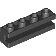 Black Brick, Modified 1 x 4 with Groove  265326