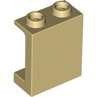 Tan Panel 1 x 2 x 2 with Side Supports - Hollow Studs  6063943