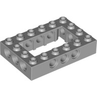 Light Bluish Gray Technic, Brick 4 x 6 Open Center  4211716