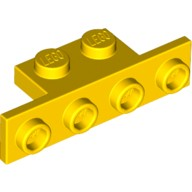 Yellow Bracket 1 x 2 - 1 x 4 with Rounded Corners  6076799