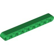 Green Technic, Liftarm 1 x 9 Thick  6036624 or 6115618