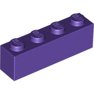 Dark Purple Brick 1 x 4  4224855 or 4640611 or 6185995