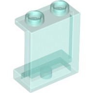 Trans-Light Blue Panel 1 x 2 x 2 with Side Supports - Hollow Studs  4640026