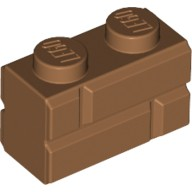 Medium Dark Flesh Brick, Modified 1 x 2 with Masonry Profile (Brick Profile)  4656783