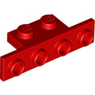 Red Bracket 1 x 2 - 1 x 4 with Rounded Corners  6089576