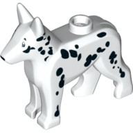 White Dog Alsatian / German Shepherd (Police Dog/Fire Dog) with Dalmatian Pattern  6025192