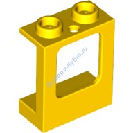 Yellow Window 1 x 2 x 2 Plane, Single Hole Top and Bottom for Glass  4521134 or 6153842