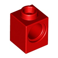 Red Technic, Brick 1 x 1 with Hole  654121