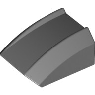 Dark Bluish Gray Slope, Curved 2 x 2 Lip, No Studs  4210931