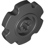 Black Technic Tread Sprocket Wheel Small  4494519 or 4544527 or 4662228