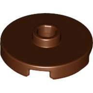 Reddish Brown Tile, Round 2 x 2 with Open Stud  6102360