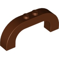 Reddish Brown Brick, Arch 1 x 6 x 2 Curved Top  6058130