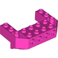 Dark Pink Train Front Sloping Base with 4 Studs  6056386