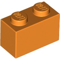 Orange Brick 1 x 2  4121739 or 4613981
