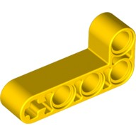 Yellow Technic, Liftarm 2 x 4 L-Shape Thick  4141628