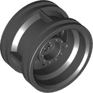 Black Wheel 30.4mm D. x 20mm with No Pin Holes and Reinforced Rim  4299389