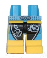 Medium Blue Hips and Yellow Legs with Black and Medium Blue Board Shorts with Flowers Pattern  4587330 or 6010869 or 6043798